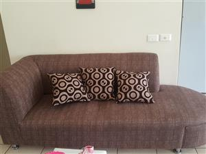 L shaped spacious couch
