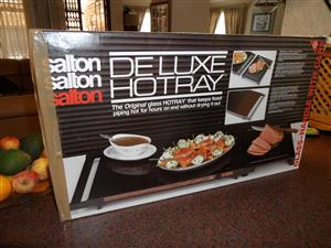 SALTON DE LUX HOT TRAY WITH CARVING BOARD