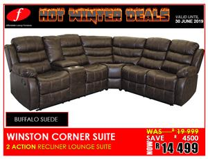 CORNER LOUNGE SUITE WINSTON BRAND NEW !!!! FOR ONLY R14 499