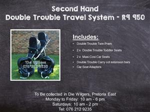 Second Hand Double Trouble Travel System