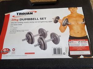 20 kg trojan dumbbell set