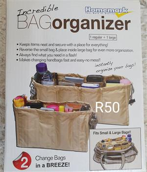 Bag organizer for sale.