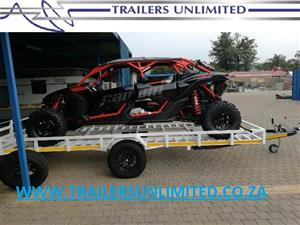 CAR / SIDE BY SIDE TRAILERS. BRAKE NECK SYSTEM.