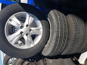 Daihatsu Terios Mag Rims and tyres 215.65R16 for sale.
