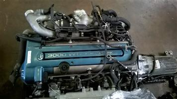 Toyota Supra 3.0 VVTi Twin Turbo Engine & Auto Gearbox  # 2JZ