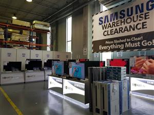 PRICES SLASHED TO CLEAR ON BRAND NEW SAMSUNG TVS