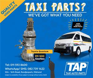 Toyota Quantum GEARBOX - Taxi Auto Parts - Quality used spares - TAP