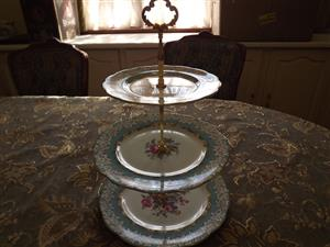 Royal  Albert Enchantment 3 tier cake stand Made in England . Price R2200