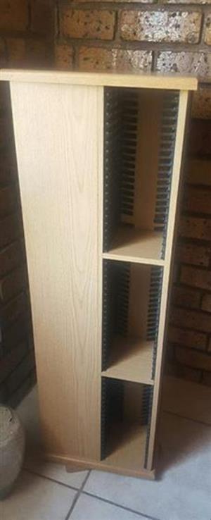 Light wooden cd rack