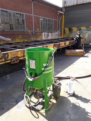 VerticalZA – Wet and dry Mobile Sandblasting Compressor/ Automatic 200liter Sandblasting Pot Rental