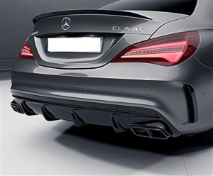 Merc CLA45 AMG Style Front Canards (2pcs)- Gloss Black (Facelift)