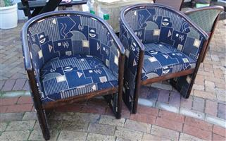 Beautiful Black Tub Chairs for-sale at R 950 each Neg