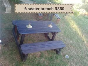 6 Seater bench for sale