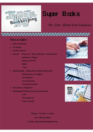 Data Capture / Book keeping / General Office Work