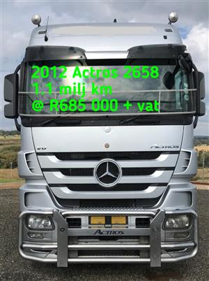 2012 Actros 2658