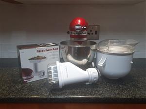 Kitchen Aid mixer & accessories