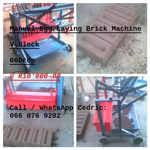 V-Block Manual Egg Laying Brick Machine
