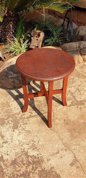 Burmese Teak Side Table No 2 (D 355 H 325)