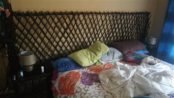 Woven log headboard for sale