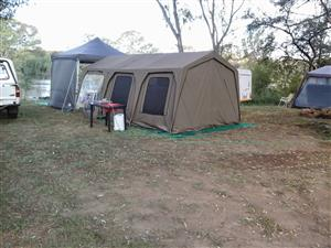 2 in 1 Combo tent with side panels