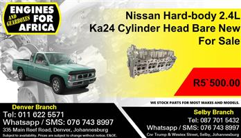 Nissan Hard-body 2.4L Ka24 Cylinder Head Bare New For Sale.
