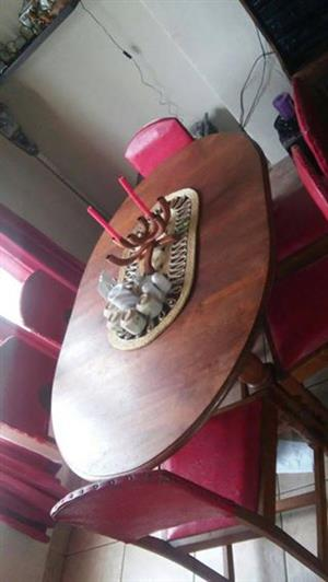 Very old 6 seater strong diner table and chairs