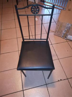 Black leather seat chair