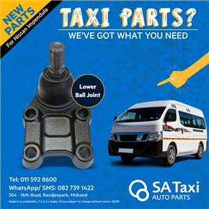 NEW Lower Ball Joint for Nissan NV350 Impendulo - SA Taxi Auto Parts quality spares