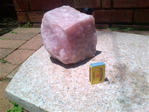 PINK ROSE QUARTZ ROCK LAMP SHADE