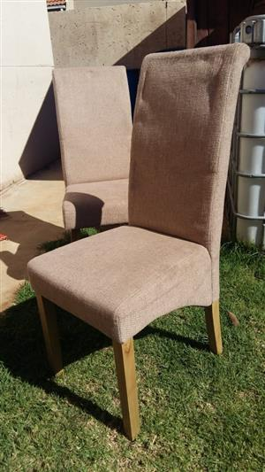 8 x Good quality dinning chairs for sale at give away price,  @ R150 each or R1100 for 8