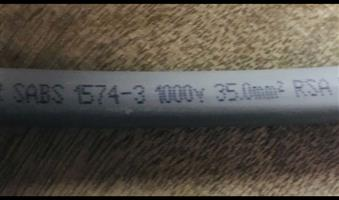 BRAND NEW 35mm GREY WELDING CABLE