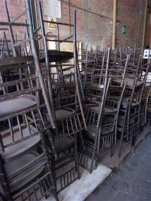 Loads of wooden chairs
