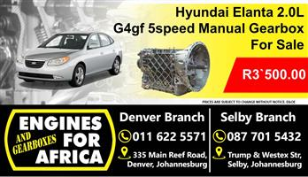 Hyundai Entra 2.0L g4gf Manual 5speed Gearbox Used For Sale