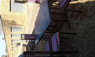 Nice 7 Piece dining/Patio set for sale.