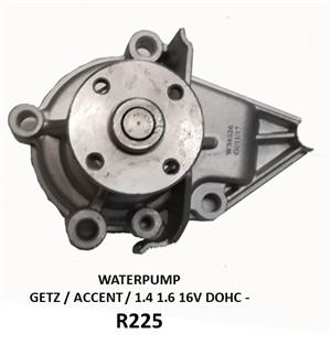WATER PUMP *NEW* - 1.4, 1.6, 16V DOHC / GETZ / ACCENT