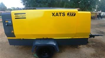 Atlas Copco 770CFM / 10 Bar Mobile Air Compressor - XATS377