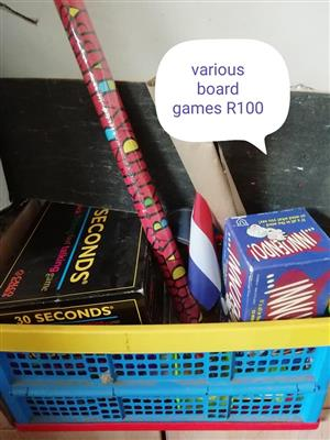 Various board games for sale