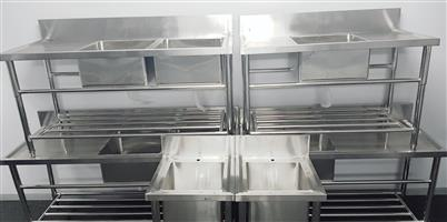 SINKS FOR SALE – STAINLESS STEEL SINK – STAINLESS STEEL BASIN – PREP SINKS – STAINLESS STEEL TABLES