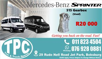 Mercedes Sprinter 515 Gearbox - Used - Quality Replacement Taxi Spare Parts.
