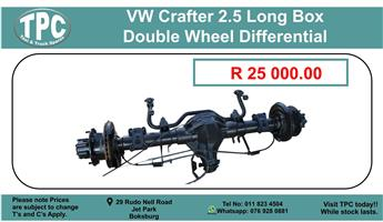 Vw Crafter 2.5 Long Box Double Wheel Differrntial  - For Sale at TPC