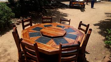 Octagon dining room set