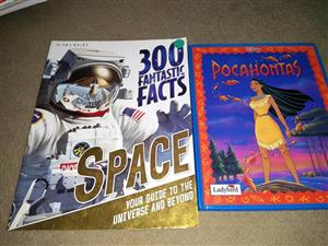 Pocahontas and space facts books