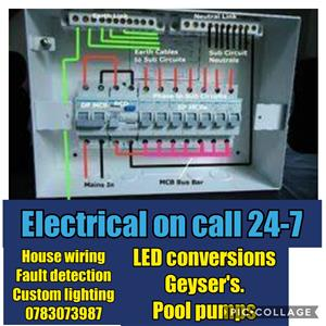Electrical fault finding and repairs