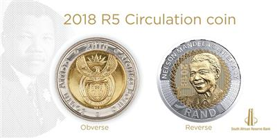 5 rand 2018 mandela coin