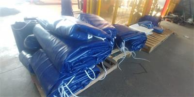 TOP QUALITY 9M X 9M AND 16M X 9M PVC TRUCK COVERS/TARPAULINS AND CARGO NETS FOR SUPERLINK AND TRI-AXLE