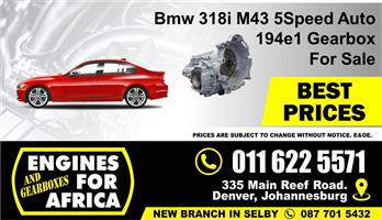 Used Bmw 318i M43 194e1 01-03 Auto Gearbox