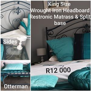 King Size Wrought Iron Set with Restonic Matrass