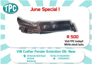 VW Crafter Fender Extention 06- New for Sale at TPC