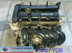 Imported used FORD FOCUS SE 1.6L 16V, FYDB, Complete second hand used engine