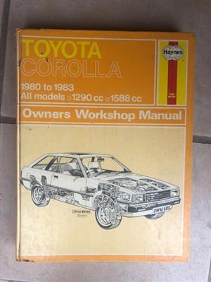 Toyota Corolla RWD Owners Manual